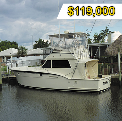 42' Hatteras 1977 boat - Xperience Florida Marine